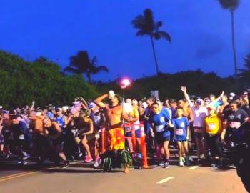 The Kauai Marathon Starting Line