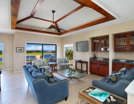 Spacious Living Room at Poipu Wai Hale