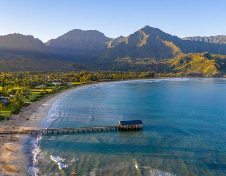 A gorgeous view of Hanalei Bay
