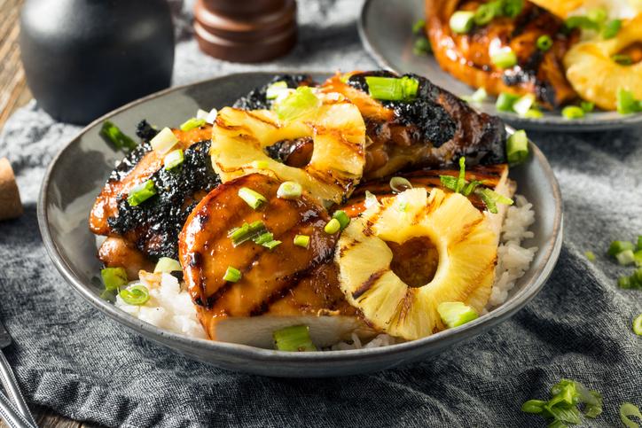 A plate of Hawaiian cuisine